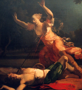 Pyramus and thisbe lioness