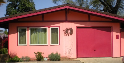 Doni's formerly pink house needed a lot of work.