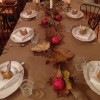 Thanksgiving tablescape cropped by Shelly Shively
