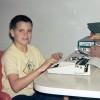 Robb at a typewriter