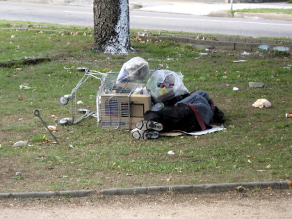 homeless asleep - morguefile photo