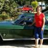 slim lisa by her cool car