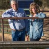 Jim and Mary Rickert at property near Anderson CA with solar powered cattle watering station