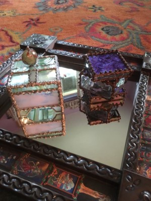 One of the ways James Freemon raised money for the AIDS LifeCycle ride was to make jewlery and glass boxes.