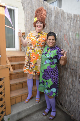 "From left, illustrator Lee Davis and her author friend Usam, created ""Madame Yoo and the"