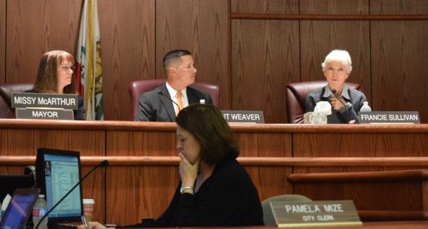 Mayor Missy McArthur, left, Vice Mayor Brent Weaver and Councilwoman Francie Sullivan.