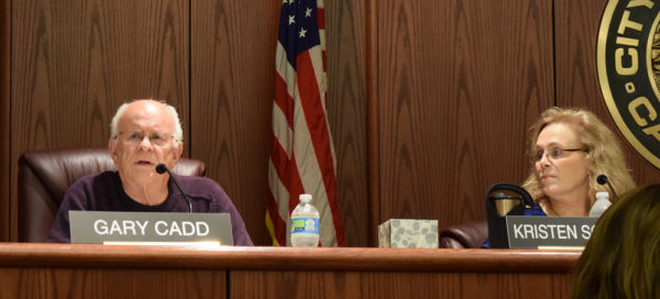 Councilman Gary Cadd, left, and Councilwoman Kristen Schreder.