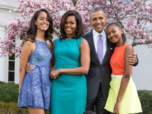 Obama Whitehouse family portrait, Easter 2016.
