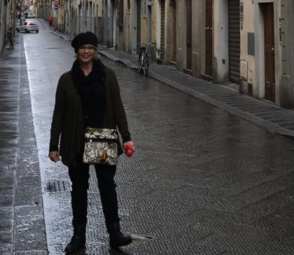Doni in Florence, where she and her family walked, rain or shine.