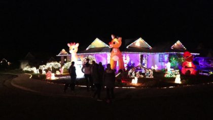 Wade and Bobette Riggs' lighted Christmas decorations are an annual undertaking.