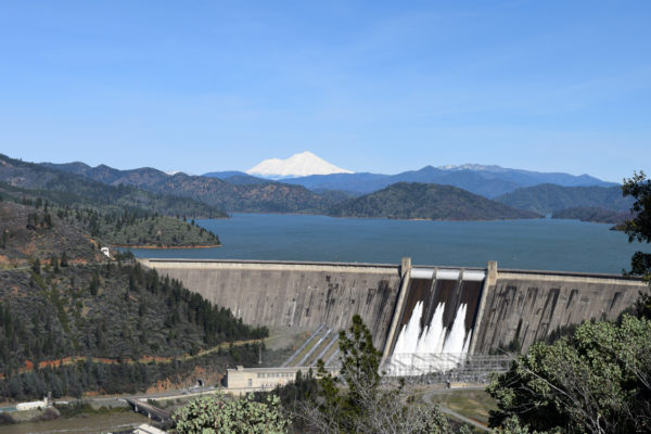 Operators opened 10 river outlets on Shasta Dam's spillway for the first time in more than 15 years. Photos and video by Jon Lewis.