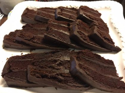 cake chocolate with ganache