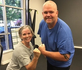 Not only is Erin Lundgren a great workout partner, but he knows a lot about wedding cakes.