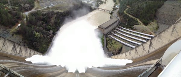 Panoramic shot of Shasta Dam, February 13, by Kelsey Falle.