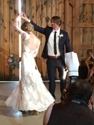 Erin and Aaron Shively celebrate their marriage with a dance. Photo by Brittany Kilpatrick Howard.