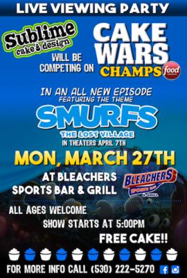 smurfs cake wars poster