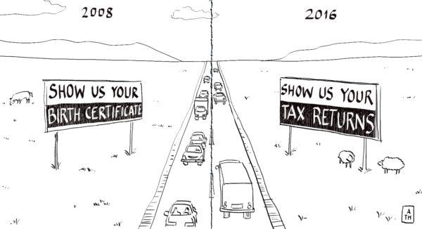 obama trump highway