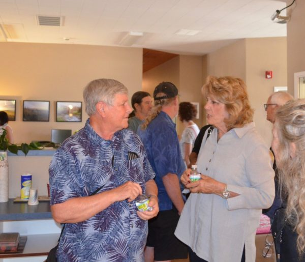 Shasta County Board of supervisors Steven Morgan, District 4, and Mary Rickert, District 3, attend the open house of the Hill Country Care Center, a mental health facility, in Redding.