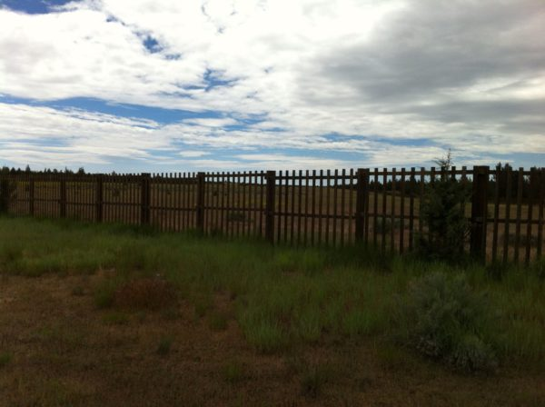 Not a game compound, this fence in the middle of nowhere surrounds a shuttered Air Force radar site on Modoc National Forest.