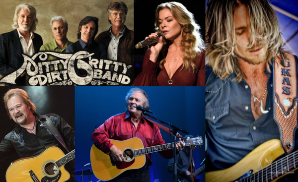 Nitty Gritty Dirt Band, LeeAnn Rimes, Lukas Nelson, Travis Tritt and Don McLean.