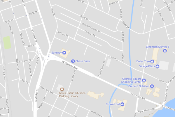 Bryant Krause's assault occurred near Park Marina Drive near the Cypress Avenue bridge. Ryan Rhodes accident occurred more than a mile away, near Market and Gold Streets.