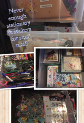 Wendi's collection of stationary.