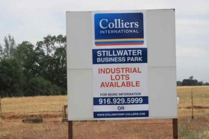 Industrial real estate is supposed to be hot in California, but Stillwater Business Park isn't selling. Photo by R.V. Schiede.