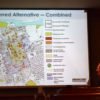 Bruce Brubaker of PlaceWorks with the preferred alternative for the Downtown Redding Specific Plan.