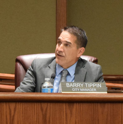City Manager Barry Tippin discusses his goals. Photos by Jon Lewis.