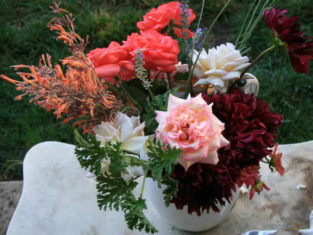 Flowers For The Table Working With Garden Flowers For