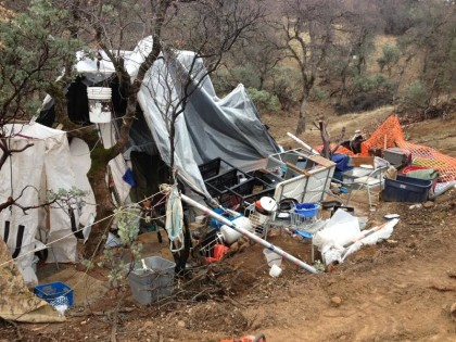 Illegal encampments are routinely leveled, only to reappear elsewhere.