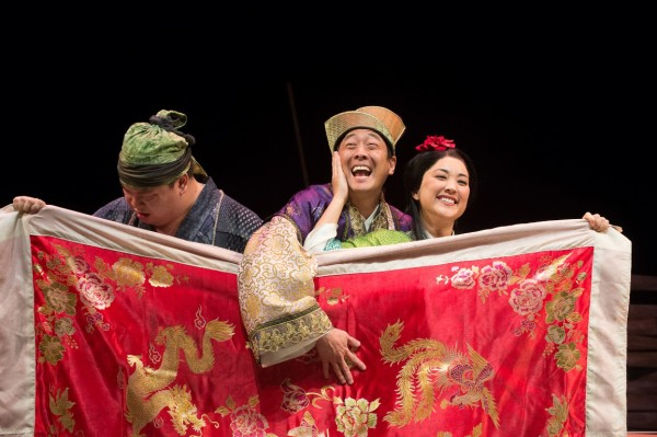 The Oregon Shakespeare Festival. 2015. Secret Love in Peach Blossom Land. Directed by Stan Lai. Lighting Design by Alexander V. Nichols. Set Design by Michael Locher. Costume Design by Helen Q. Huang. Photo by Jenny Graham.