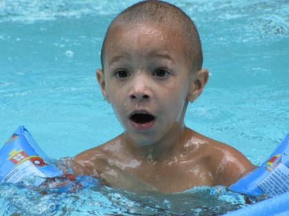 boy in water