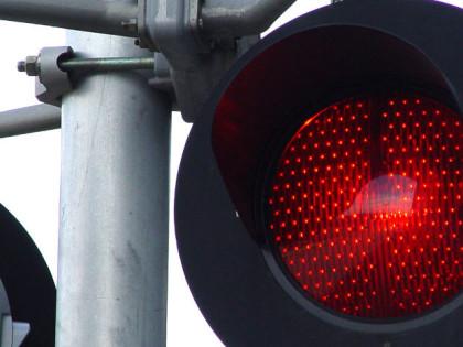 red light close up
