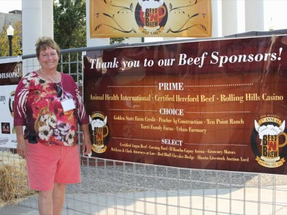 Cathy Tobin, co-chair of the Beef 'N' Brew / Photos from redbluffbeefnbrew.com