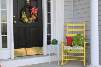 Not my front porch, but it looks like one that could be from  Airbnb.
