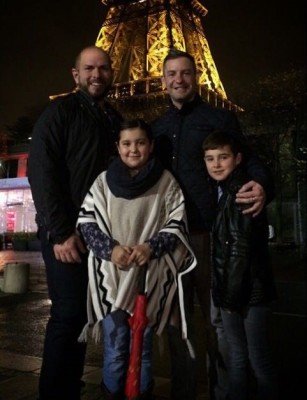 James Brian and family in Paris jpg