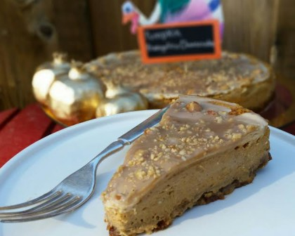 pumpkin frangelico cheesecake