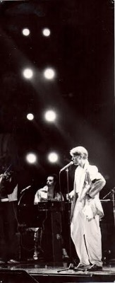 David Bowie 1978 at the Oakland Arena, photo by Jon Lewis