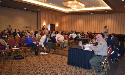 About 75 people turned out for the Redding Merchants Crime Watch meeting.