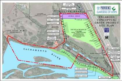Providence Gardens of Hope site plan