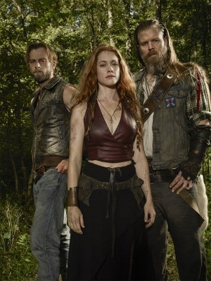 """""""Outsiders"""" Asa, G'Wynn and Little Foster. All photos courtesy of WGN America"""