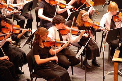Youth Symphony Violin Section