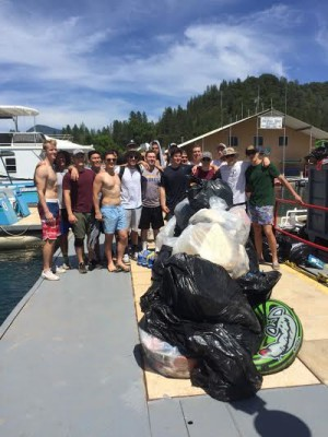 About 40 Oregon State University students drove to the lake just to help with clean-up.