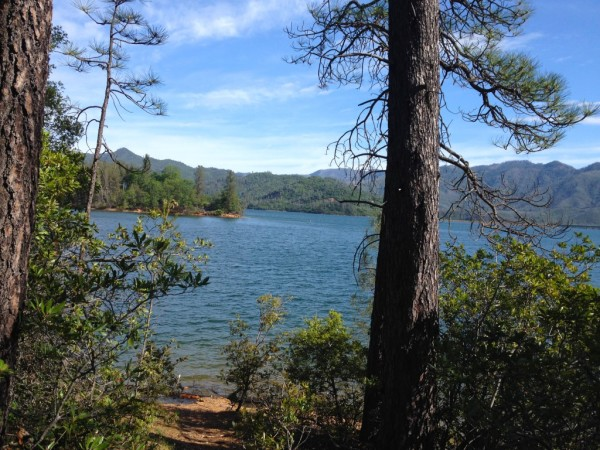 The view from Davis Gulch Trail at Whiskeytown Lake.