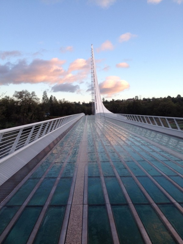 The Sundial Bridge - the most architecturally inviting finish line in the history of trail runs.