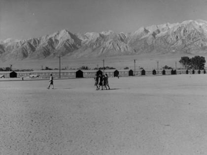 Dorothea Lange Gallery photo of Manzanar Camp. Photo credit the U.S. Forest Servie Manzanar Camp Site
