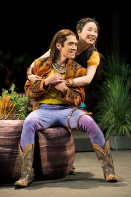 Florizel (Moses Villarama) and Perdita (Cindy Im) are young lovers in Bohemia. Photo by Jenny Graham, Oregon Shakespeare Festival.