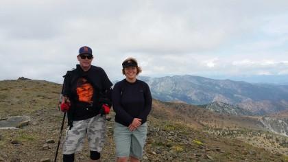 Cindy valdez hiking with husband