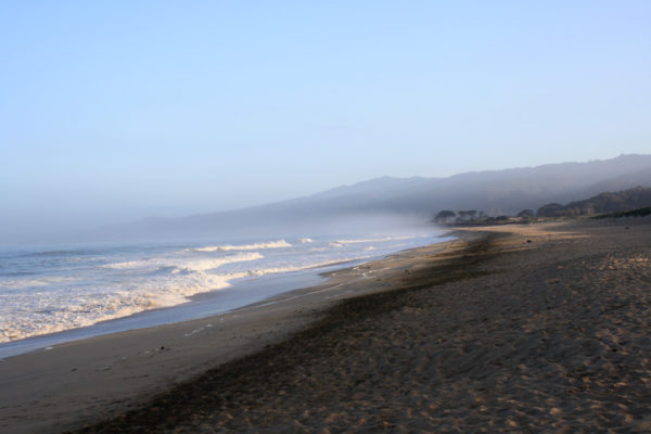 Why they call it Half Moon Bay.